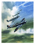 The Supermarine Spitfire Mark Ix Premium Giclee Print by Wilf Hardy