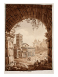 Interior of the Arch of Janus, 1833 Giclee Print by Agostino Tofanelli