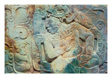 Pectoral of the King and a Courtier from Tikal Premium Giclee Print by  Mayan