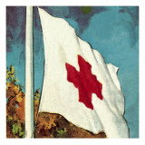 International Red Cross Flag Giclee Print by  English School