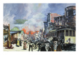 San Francisco Fire and Earthquake of 1906 Giclee Print by Graham Coton