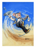 The Town Mouse and the Country Mouse Giclee Print by  Mendoza