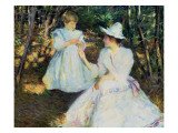Mother and Child in Pine Woods, C.1893 Giclee Print by Tarbell