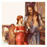 Charles I Saying Farewell to His Children Giclee Print by John Millar Watt