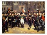 Les Adieux De Fontainebleau, 20th April 1814 Giclée-Druck von Emile Jean Horace Vernet