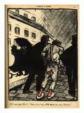 Two Policemen Take Away a Tramp Dressed in Rags Giclee Print by Félix Vallotton