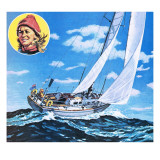 Clare Francis, Sailing from Falmouth to Newport Giclee Print by  Green