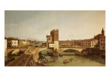 The Bridge at Delle Navi, Verona Giclee Print by Bernardo Bellotto