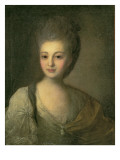 Portrait of Aleksandra P. Struyskaya Giclee Print by Fedor Stepanovich Rokotov