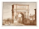 The Arch of Titus, Restored by Pius Vii, 1833 Giclee Print by Agostino Tofanelli