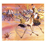 Arabs Pouring across the Desert to Kill Mohamed Giclee Print by  Mcbride