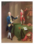 Sir Robert Walker and His Son Robert Giclee Print by Robert Hunter