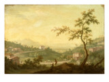 The Road from Mondovi, Cuneo in the Distance Giclee Print by Giuseppe Zocchi