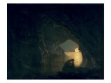 A Grotto with the Figure of Julia, 1780 Giclee Print by Joseph Wright of Derby