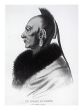 Le Soldat Du Chene, an Osage Chief Giclee Print by  American School