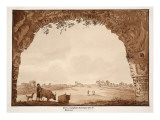 The Triumphal Arch of the Circus of Maxentius, 1833 Giclee Print by Agostino Tofanelli