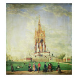 The Albert Memorial, in London, 1887 Giclee Print by Edwin Frederick Holt