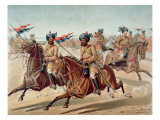 Scouts of the 10th Bengal Lancers Giclee Print by Richard Simkin