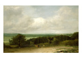 Wooded Landscape with a Ploughman Giclee Print by John Constable