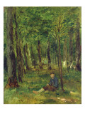 Young Farmer Sitting in the Forest, 1878 Giclee Print by Thomas Ludwig Herbst