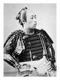 Samurai of Old Japan with Traditional Hairstyle Reproduction procédé giclée par Japanese Photographer