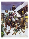Christmas Day in the 18th Century Giclee Print by Peter Jackson