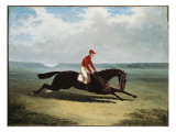 The Baron with Bumpy Up, at Newmarket Giclee Print by John Frederick Herring Snr