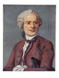 D'Alembert, Copy by Boris Mestchersky Giclee Print by Maurice Quentin de La Tour