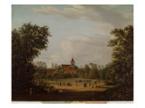 View of the Village Church, Pankow, 1835 Giclee Print by Jean Bartheleney Pascal