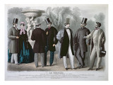 Parisian Fashion Plate for 'Le Progres', June 1864 Giclee Print by French School