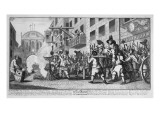 Burning Ye Rumps at Temple-Barr, 1726 Giclee Print by William Hogarth