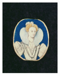 Elizabeth I, Miniature Portrait, Giclee Print by Isaac Oliver