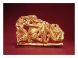 Plaque Depicting a Griffin Attacking a Horse Giclee Print by Scythian