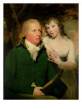 Sir Alexander Don with His Daughter Elizabeth Giclee Print by Sir Henry Raeburn