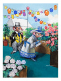 The Town Mouse and the Country Mouse Premium Giclee Print by  Mendoza