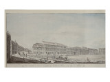 West Aspect of Wilhelmsplatz, C.1773 Giclee Print by Andreas-ludwig Kruger