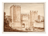 The Porta San Lorenzo, Inter Ageres, 1833 Giclee Print by Agostino Tofanelli