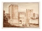 The Porta San Lorenzo, Inter Ageres, 1833 Giclee Print by Agostino Tofanelli