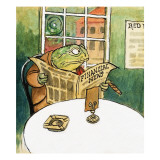 Toad Reading the Newspaper, C.1975 Giclee Print by  Mendoza