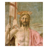The Resurrection, Detail of Christ, C.1463 Wydruk giclee autor Piero della Francesca