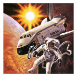 Space Suit, as Imagined in 1977 Giclee Print by  English School