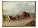The Edinburgh to London Royal Mail Coach Giclee Print by John Frederick Herring Snr