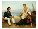 Relating His Adventures, 1881 Giclee Print by William Oliver