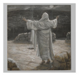 Christ Retreats to the Mountain at Night Giclee Print by James Tissot