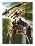 The Fokker Dr. 1 -- the Red Baron Giclee Print by Wilf Hardy
