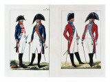 Musketeers and Officers, 1800 Giclee Print by August Leopold Ramm