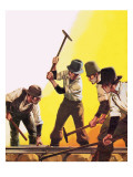 The Making of America: Working on the Railroad Giclee Print by  Mcbride