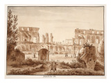 The Arena of the Colosseum in 1788, 1833 Giclee Print by Agostino Tofanelli
