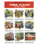 Fares, Please! the Story of Buses Giclee Print by Eric Parker
