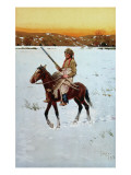 Indian Returning from the Hunt, 1912 Giclee Print by Henry F. Farny